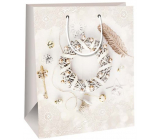 Ditipo Gift paper 26.4 x 13.6 x 32.7 cm bag beige wreath DAB