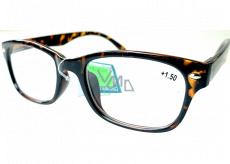 Berkeley Reading glasses +1.5 plastic brown tiger 1 piece MC2197