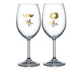 Mr. Nekupto Pair of wine glasses & Mrs. 2 x 440 ml