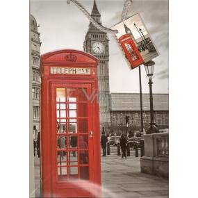 Nekupto Gift paper bag 32.5 x 26 x 13 cm London 1 piece 762 02 BL