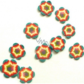 Professional Nail decorations flowers red-green 132 1 package