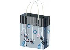 Taška Dárková celoroční pruhy a různé tvary XL 45,5 x 33 x 10,5 cm