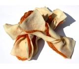 Salač Motýlek z buvolí kůže s kuřecím masem doplňkové krmivo pro psy a kočky 100 g