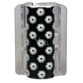 Linziclip Maxi Hair clip black with daisies 8 cm suitable for thicker hair 1 piece