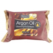 Beauty Formulas Argan Oil Cosmetic make-up and cleaning wipes 30 pieces