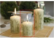 CANDLE Cylinder 50x70 Elephant Item Bamboo 9263