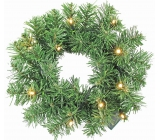Wreath with lighting 10 LED, 30 cm