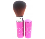 Cosmetic powder brush with cap pink 11 cm 30450-06
