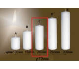 Lima Gastro smooth candle white cylinder 70 x 200 mm 1 piece