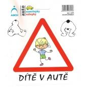 Arch Car sticker Child in car cheerful boy 6272 15 x 17 cm
