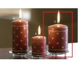 Lima Heart print candle old pink cylinder 70 x 100 mm 1 piece