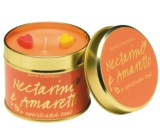 Bomb Cosmetics Nectarine and Amareto Scented natural, handmade candle in a tin can burns for up to 35 hours