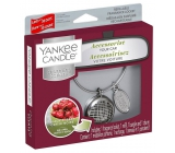 Yankee Candle Black Cherry - Ripe cherries car scent metal silver tag Charming Scents set Linear 13 x 15 cm, 90 g