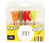 Albi Cake candles name - Viky, 2.5 cm