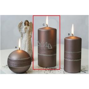 Lima Sparkling candle light brown cylinder 70 x 150 mm
