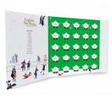 Česky Tea Shop Bio Advent calendar in the shape of a book green, 25 pieces of pyramids of loose teas, 13 flavors, gift set