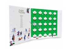 English Tea Shop Bio Advent calendar in the shape of a green book, 25 pieces of loose tea pyramids, 13 flavors, 50 g, gift set
