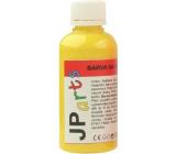 JP arts Paint for textiles for light materials, glitter 1. Yellow 50 g