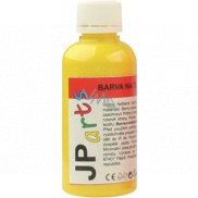 JP arts Paint for textiles for light materials, glitter 1. Yellow 50 g