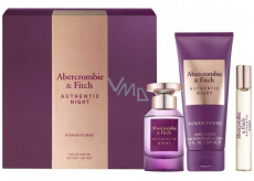 Abercrombie & Fitch Authentic Night Woman perfumed water for women 100 ml + body lotion 200 ml + perfumed water 15 ml, gift set
