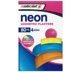 Masterplast Neon Assorted Plasters waterproof patch 4 sizes 80 pieces