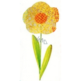 Flower large yellow intertwined 49 cm