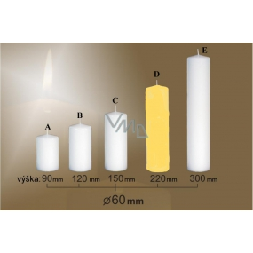Lima Candle smooth yellow cylinder 60 x 220 mm 1 piece