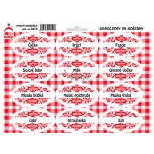 Arch Spice stickers with red ornament Lentils - base in the kitchen (legumes, flour, ...)