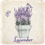 Bohemia Gifts & Cosmetics Lavender flower pot with butterflies decorative tile 10 x 10 cm