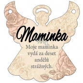 Albi Hanging plaque angel Mom 9 x 10 cm