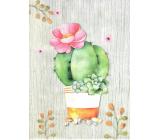 Nekupto Gift kraft bag medium 29 x 22 x 10 cm Cactus