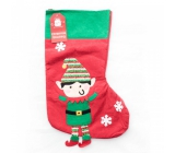 Xmas Elf / Santa Christmas stocking with elf or santa for gifts 1 piece