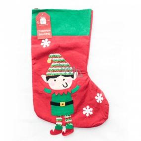 Xmas Leprechaun / Santa Christmas Stocking with Goblin or Santa Gift 1 piece