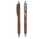 Spoko Panther Nature ballpoint pen, Easy Ink, brown, blue refill 0.5 mm