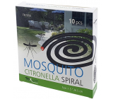 Mosquito Repellent Incense spiral repellent spiral with lemongrass against mosquitoes 1.5 x 26.5 cm 10 pieces TR C356