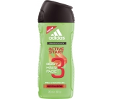 Adidas Active Start 3v1 Body Hair Face sprchový gel na tělo, tvář a vlasy pro muže 250 ml