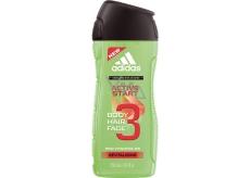 Adidas Active Start 3v1 Body Hair Face Shower Gel for body, face and hair for men 250 ml