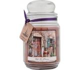 Bohemia Gifts & Cosmetics Vafle la Provence dárková vonná svíčka ve skle doba hoření 105-120 hodin 510 g