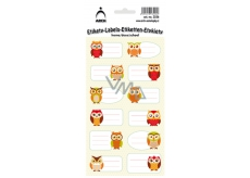 Arch Home Stickers Decorative Owls 12 labels