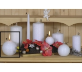 Lima Alfa Frosty effect candle white ball 100 mm 1 piece