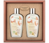 Bohemia Gifts Honey and Goat Milk shower gel 250 ml + hair shampoo 250 ml, cosmetic set