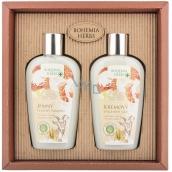 Bohemia Gifts & Cosmetics Honey and Goat milk shower gel 250 ml + hair shampoo 250 ml, cosmetic set