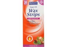 Beauty Formulas Argain Oil Wax Strips depilační pásky na nohy a tělo 20 kusů