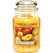 Yankee Candle Mango Peach Salsa - Mango & Peach Salsa Candle Classic Large Glass 623 g