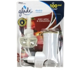Glade Electric Scented Oil Cozy Apple & Cinnamon - Apple and cinnamon electric air freshener machine with liquid filling 20 ml