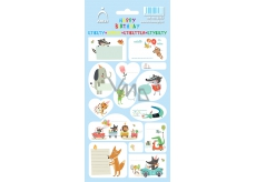 Arch Household Stickers Happy Birthday Blue 3583 14 labels