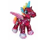 Albi Unicorn plush with sequins Red 33 cm