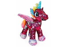 Albi Unicorn plush with sequins Red 33 cm