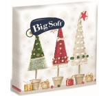 Big Soft Paper napkins 2 ply 33 x 33 cm 20 pieces Christmas Trees in a pot