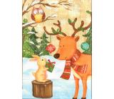 Ditipo Gift paper bag EKO 27 x 12 x 36 cm deer with hare